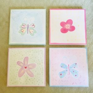 Collage of 4 pastel canvases